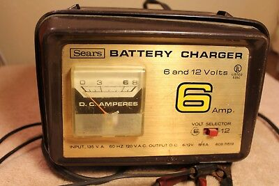 sears 6 2 amp manual battery charger