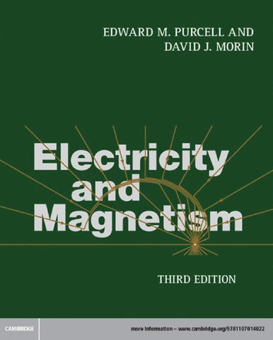 electricity and magnetism 3rd edition solutions manual purcell