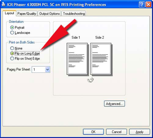 what is manual 2 sided printing