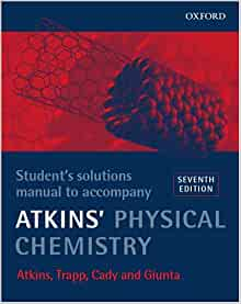 atkins physical chemistry student solutions manual pdf