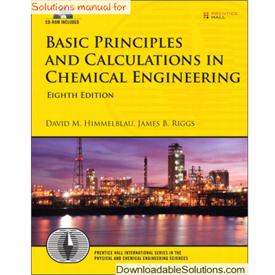 chemical engineering design and analysis solution manual
