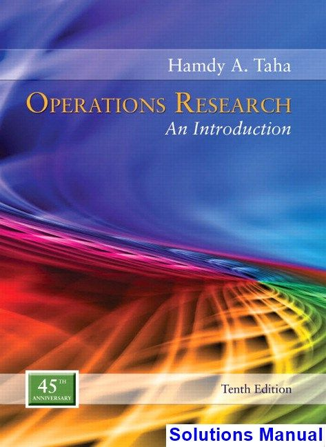 operation research hamdy taha 10th edition solution manual pdf